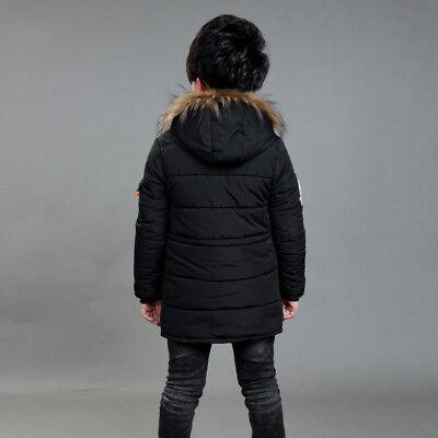 Warm Winter Boys Kids Hooded Warm Quilted Puffer Coat Jacket School Trendy Parka 5