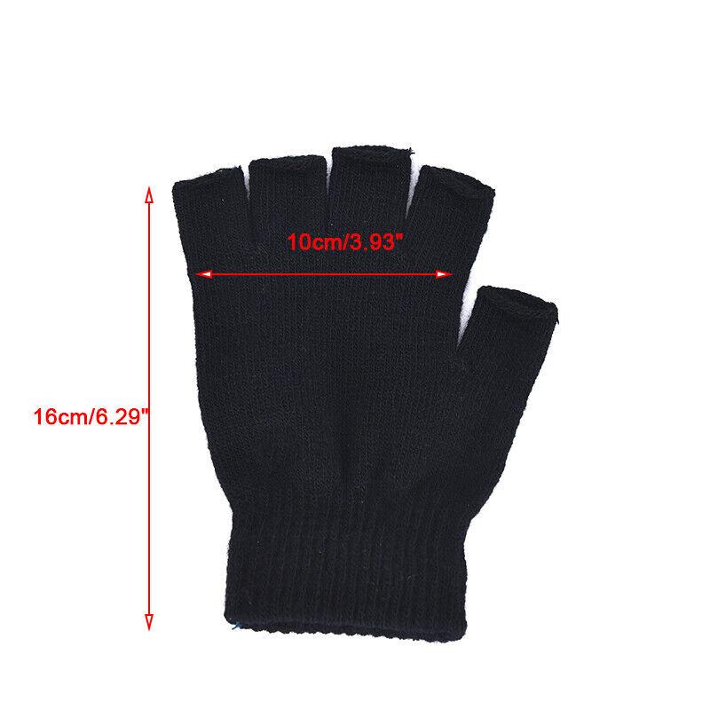 1 Pair Soft Half Fingerless Gloves Women Men Warm Knitted Mittens Couple _kz 5