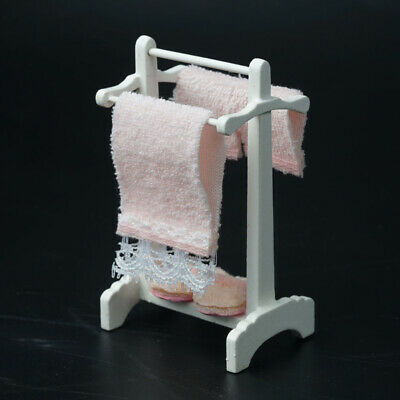 Miniature 1:12 Doll House Accessories Towel Rack Child Puzzle Handmade Doll Toy 2