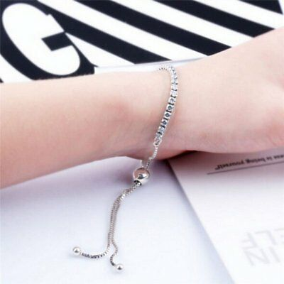 Women Fashion Rhinestone Crystal Bracelet Adjustable Bangle Cuff Jewelry Gifts
