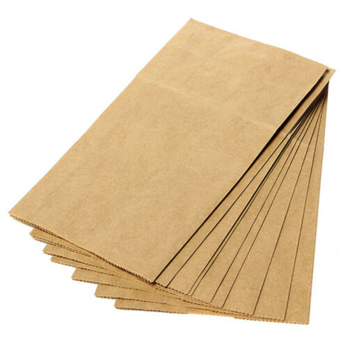 4 Of 10 10pcs Small Kraft Paper Gift Candy Bag Vintage Wedding Treat Brown