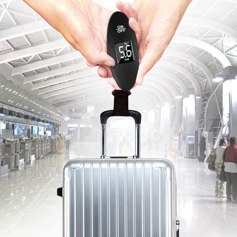 90lb Portable Electronic Digital Luggage Scale in Black 5