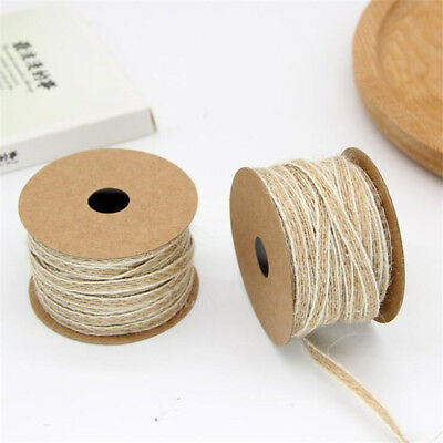 10M/Roll Natural Jute Burlap Hessian Ribbon Lace Trims Tape Rustic Wedding Decor 5