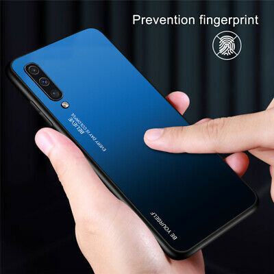 For Samsung Galaxy A50 A40 A20e A70 A80 Gradient Tempered Glass Back Case Cover 9