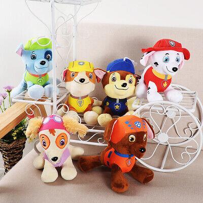 Ryder Chase Rubble Marshall Skye 7 PCS Paw Patrol Plush Stuffed Animal Toy Set