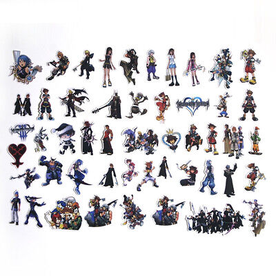 Kingdom Hearts Themed Decal Stickers Assorted Lot of 50 Pieces