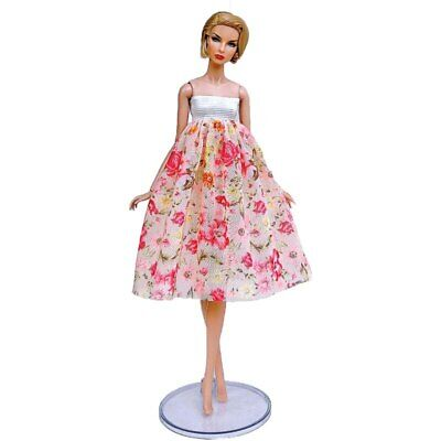 "Fashion Doll Clothes For 11.5"" Doll Dress Outfits Gown Top Floral Midi Skirt 1/6 2"