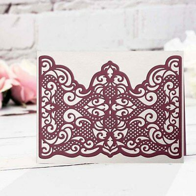 Retro Floral Lace Corners Edge Cutting Dies Stencil Scrapbooking Embossing DIY 2