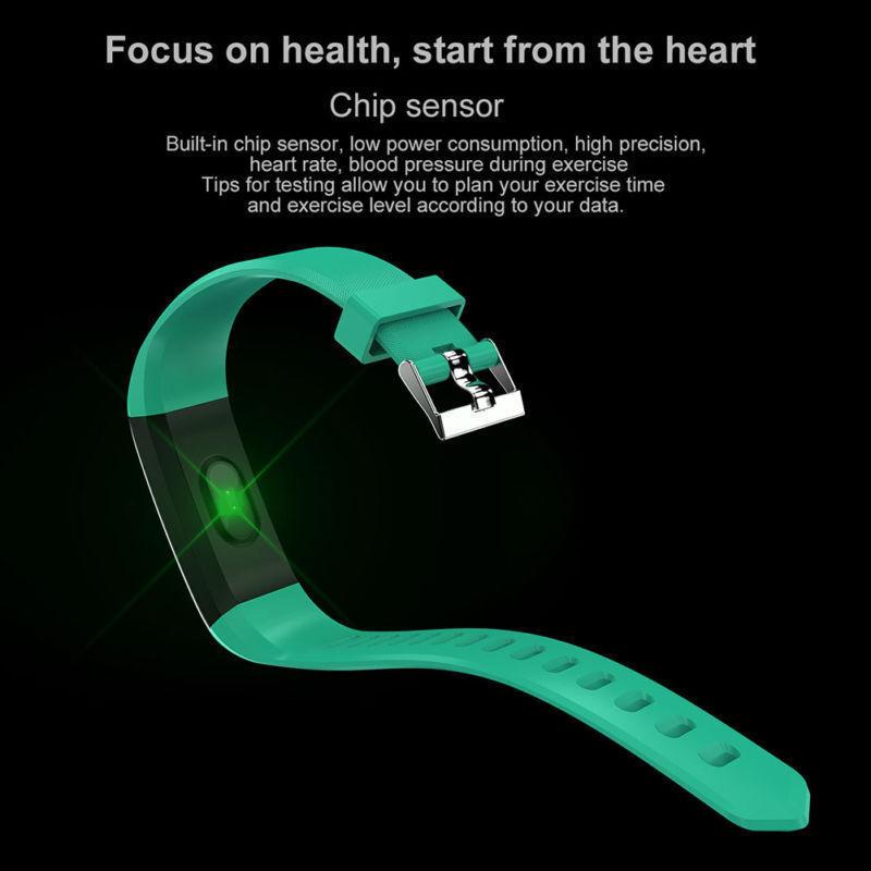 115 Plus Bluetooth Smartwatch Schrittzähler Armbanduhr Sport Fitness Tracker