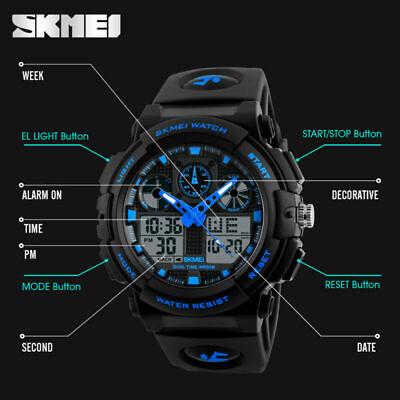 Men's Date Quartz Military Shock Digital Tactical Sport Fashion Wrist Watch US 6