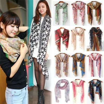 Fashion Ladies Women's Long Soft Wrap Shawl Scarf Pashmina Stole Scarves 3
