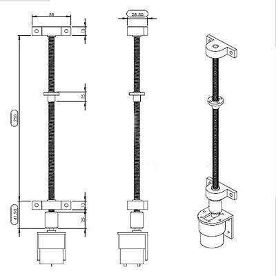 100mm - 600mm 3D Printer T8 8mm Lead Screw Rod Nut Z Axis Linear Rail Rail Bar 5
