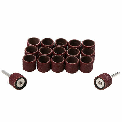 50Pcs 13mm Sanding Bands Sleeves With 2 Drum Mandrel For Dremel Rotary Tools FC 10