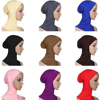 Cotone Mussulmano Copricapo Hijab Interna Cappellini Islamico Scaldacollo Ninja 5