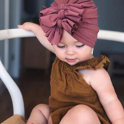 New Baby Headbands Turban Knotted Girl's Hair Bands for Newborn Children Cotton 9