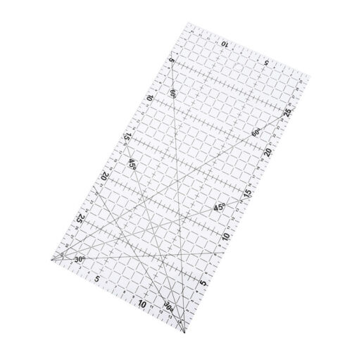 1Pc patchwork ruler quilting tools acrylic material transparent ruler scale  GN 2