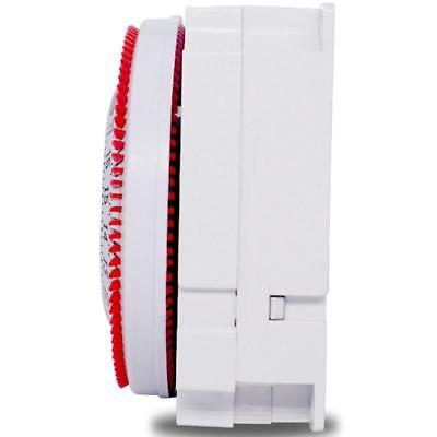 250V 50Hz Zeitschaltuhr Mechanischer Industriell Zahnriemen Gerät Schalter 9
