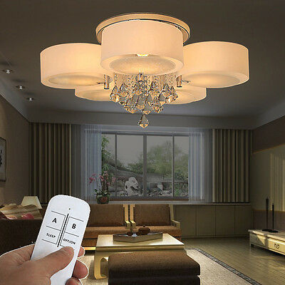 5 flammig kristall led dimmbar rgb deckenlampe. Black Bedroom Furniture Sets. Home Design Ideas