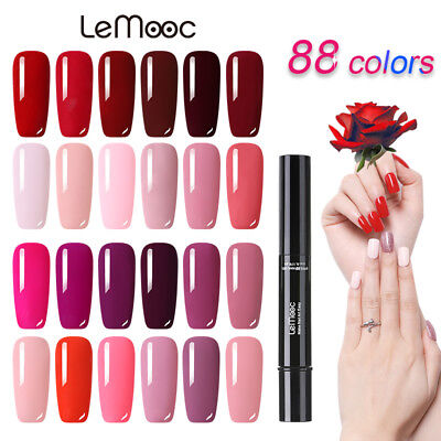 LEMOOC 88 Colors Esmaltes de Uñas en Gel UV LED Polish Base Top Coat Manicura