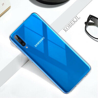 For Samsung Galaxy A50 A40 Ultra-Thin Clear Soft Silicone Shockproof Case Cover 4