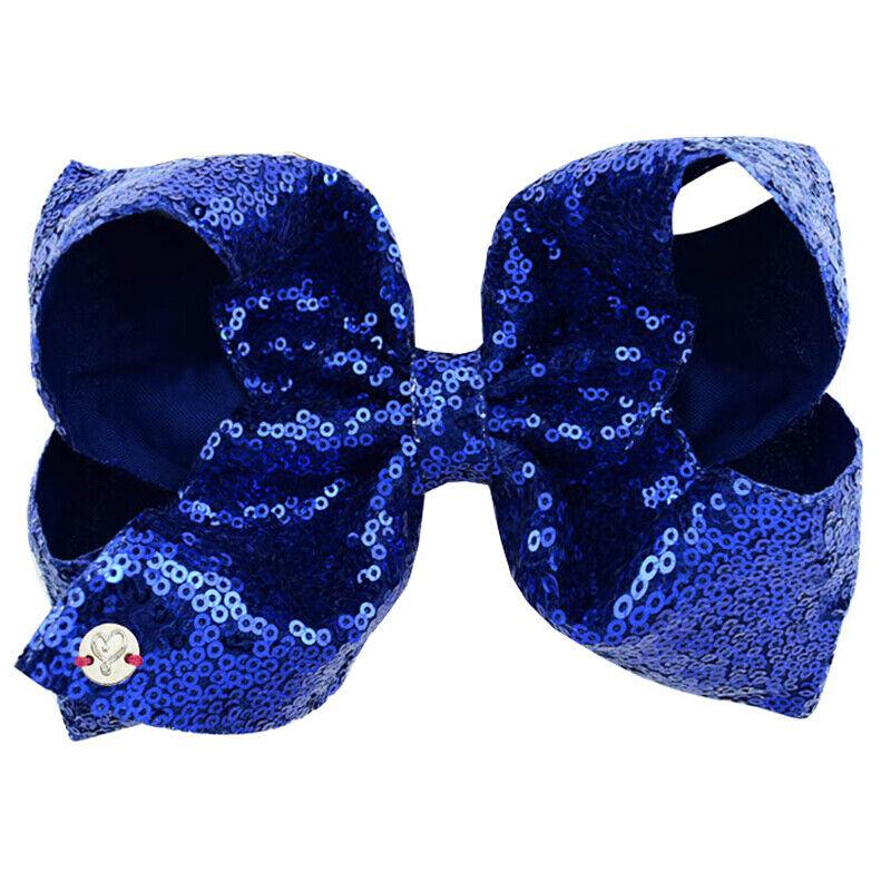 8 Inch Kids Girls Baby Glitter Sequin Cute Bowknot Hair Clips Hair Bows Hairpins 7