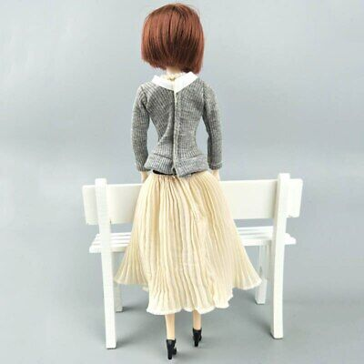 "Fashion Doll Clothes Top Blouses Chiffon Pleated Skirt For 11.5"" Dolls Clothes 9"