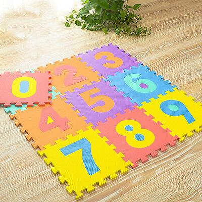 10 x Baby Soft EVA Foam Play Mat Alphabet Numbers Puzzle DIY Toy Floor Tile Game 7