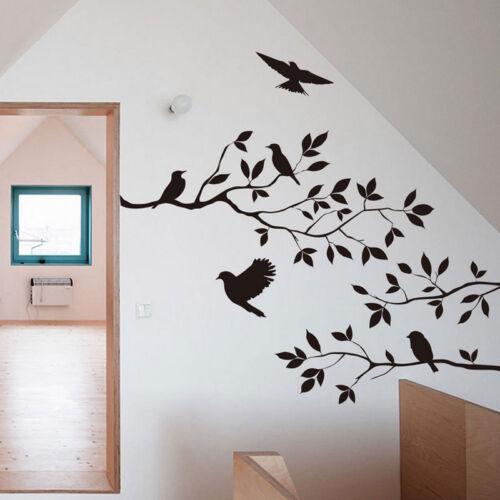Wandtattoo vogel blumen zweigen baum deko wandsticker for Room decor 7d