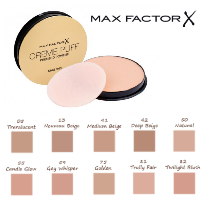 MAX FACTOR Creme Puff Compact Pressed Face Powder 21g *CHOOSE YOUR SHADE* 2