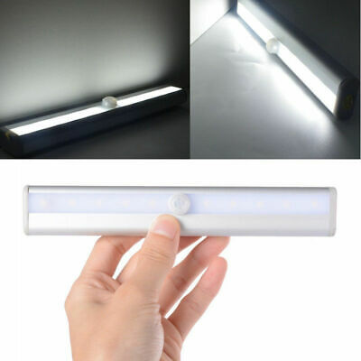 10 LED PIR Motion Sensor LED Night Light Battery Operated with Magnetic Strip 10