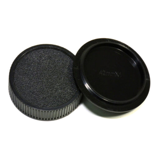 42mm Plastic Front Rear Cap Cover For M42 Digital Camera Body And Lens Fast 2