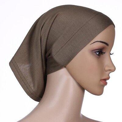 Muslim Women Hijab Under Scarf Inner Cap Bone Bonnet Neck Cover Cap Head Wrap 9
