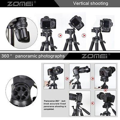 Zomei Professional Portable Camera Tripod Pan head QR Plate for DSLR SLR Camera