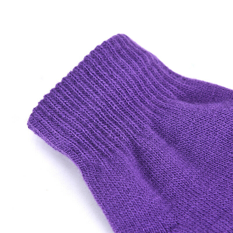 1 Pair Soft Half Fingerless Gloves Women Men Warm Knitted Mittens Couple _kz 7