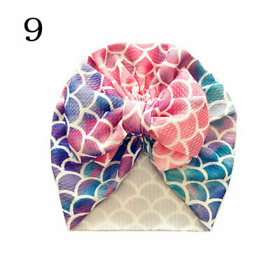 Newborn Baby Hat Head Wrap Flower Soft Bowknot Baby Turban Cap For Girl Toddler 10