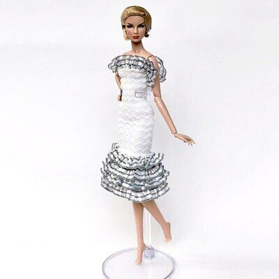 1set High Fashion Doll Clothes for 1/6 Doll Outfits Top Shirt & Skirt & Shawl 6