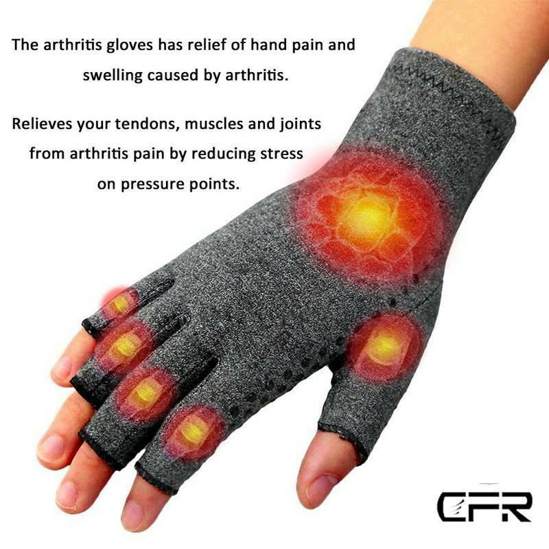 Anti Arthritis Gloves Hand Support Pain Relief Arthritis Finger Compression GW 7