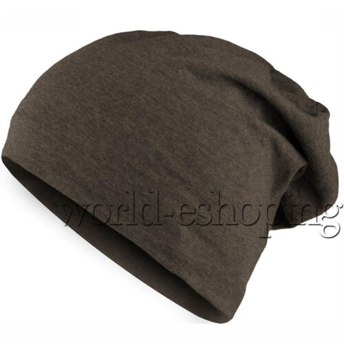 Mens Women Unisex Plain Beanie Winter Warm Oversized Ski Slouchy Baggy Hat Cap