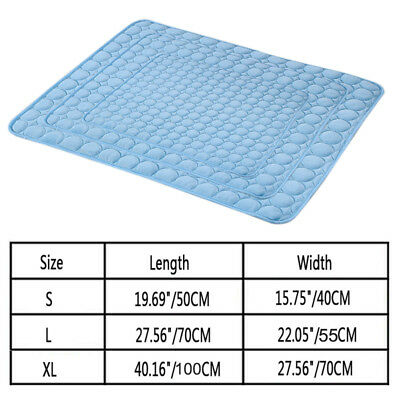 Dog Cooling Mat Pet Cat Chilly Non-Toxic Safe Summer Cool Bed Pad Cushion Indoor 3