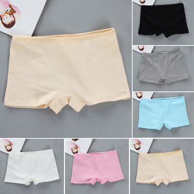 Kids Girls Teens Boxer Shorts Panties Briefs Knickers Cotton Comfy Underwear 7