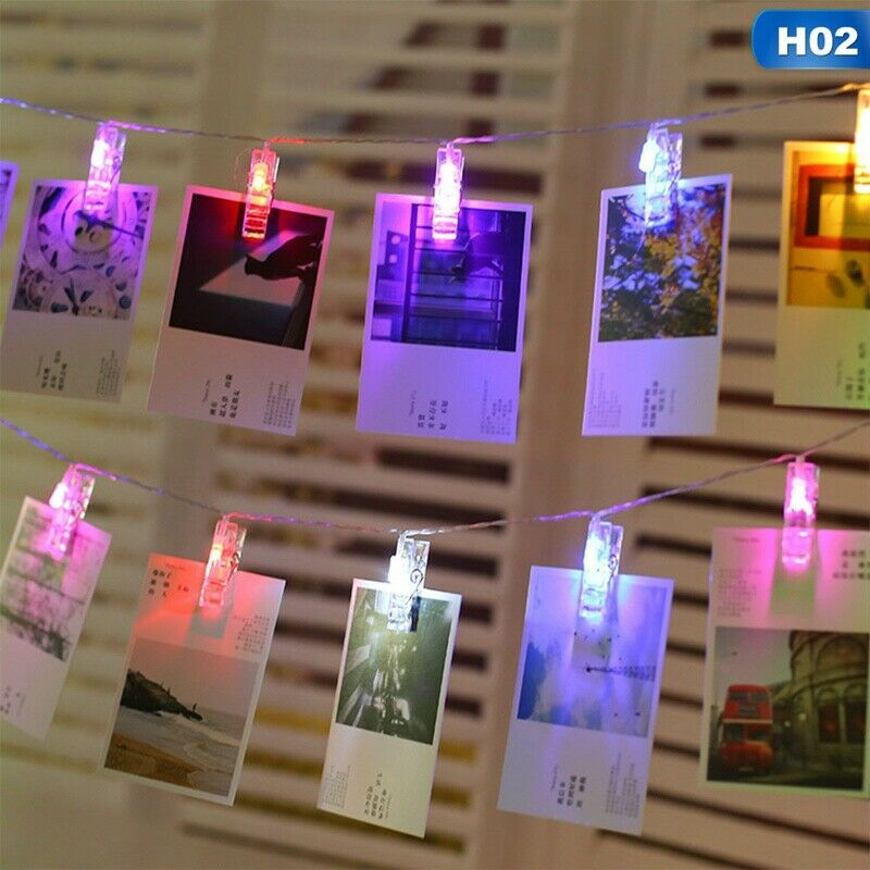 10/20/30 LED Hanging Picture Photo Peg Clip Fairy String Lights Party Decoration 8