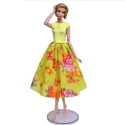 "Fashion Doll Clothes For 11.5"" Doll Dress Outfits Gown Top Floral Midi Skirt 1/6 12"