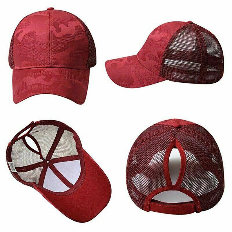 Women Pony Cap Messy High Bun Ponytail Adjustable Mesh Baseball Hat Cute Ne CP 6