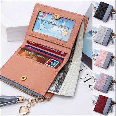 Fashion New Wallet Women Coin Bag Leather Lady Simple Bifold Small Handbag Purse 3