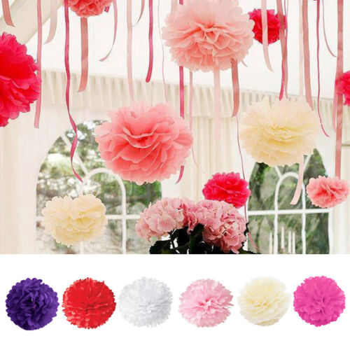 5stk 15 20 25cm Pom Diy Dekoration Papier Blumen Ball Hochzeit Party