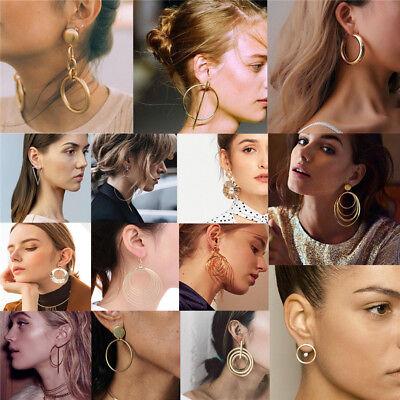 Fashion Women Metal Geometric Pendant Dangle Drop Statement Earrings Jewelry 8