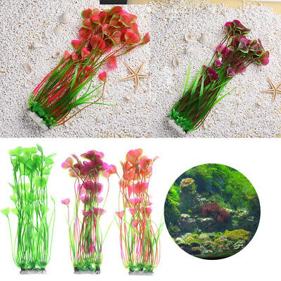 Artificial Water Plants for Fish Tank Aquarium Landscape Plastic Decor Ornament 8