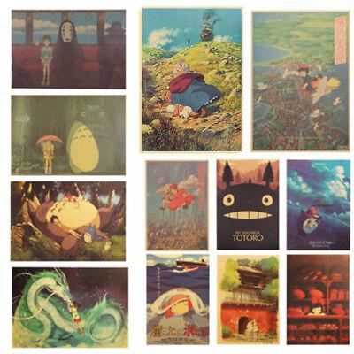 Classic Cartoon Film Spirited Away Style Kraft Paper Poster  Decor Wall Painting 2