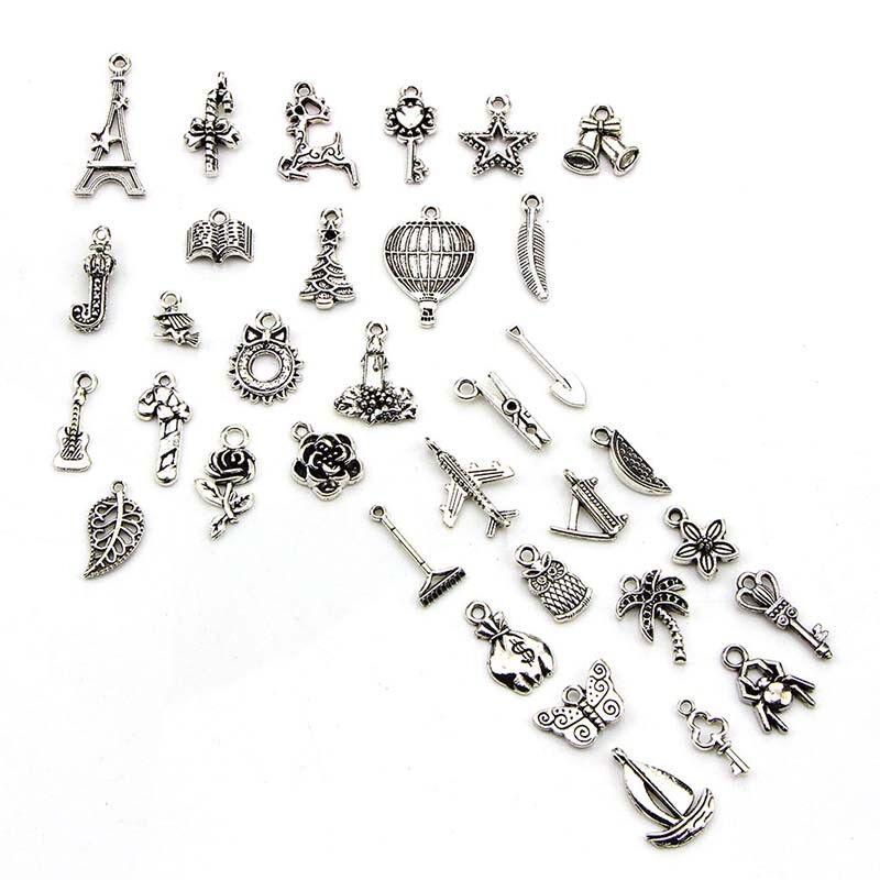 100pcs Bulk Lots Tibetan Silver Mix Pendant Charm Craft Jewelry Finding MakingWG 3