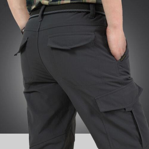 Men's Thermal Winter Pants Fleece Lined Elasticated Work Cargo Combat Trousers 2